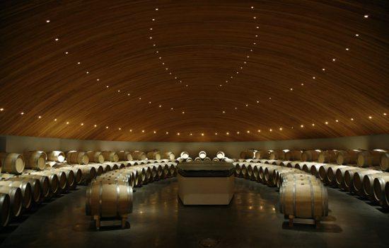 2nd Year Barrel Cellar, Clos Apalta, Part of Casa Lapostolle, Santa Cruz, Colchagua Valley, Chile